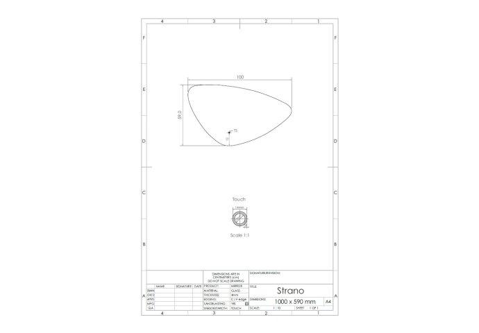 Spiegel Gliss Design Strano Organic Framework Rond Verlichting 100cm