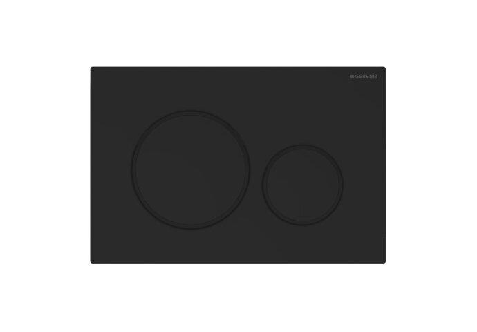 Bedieningsplaat Geberit Sigma 20 2-Toets Spoeling Easy-To-Clean Mat Zwart