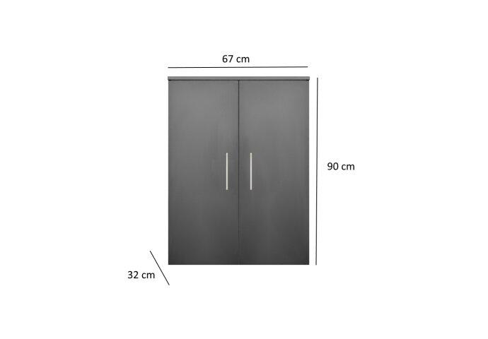 Kolomkast Sanicare Q4/Q15 2-Deurs Soft-Closing 90x67x32 cm Antraciet
