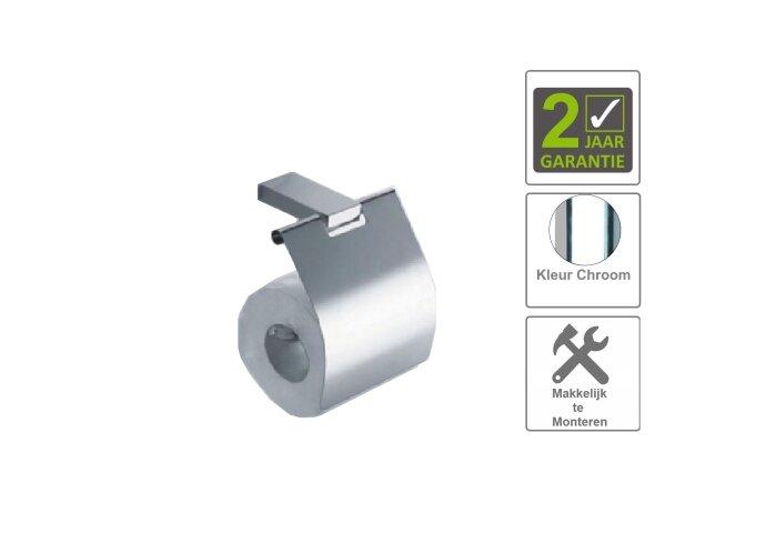 BWS Toiletrolhouder Eris Met Klep Chroom