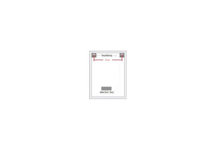 Badkamerspiegel Boss & Wessing Queen 60x80 cm Met Verlichting en Verwarming