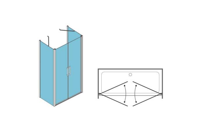 Douchecabine Lacus Giglio Fox Chinchilla Glas Aluminium Profiel (1 zijwand, alle maten)