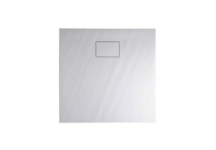 Douchebak Gegoten Marmer Sapho Acora 80x80x3.5 cm Vierkant Steen Wit