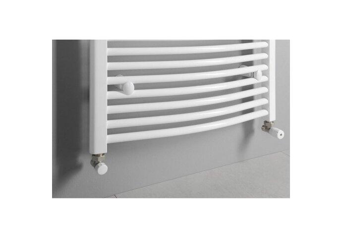 Handdoekradiator Sapho Aqualine Radiators Gebogen 186 8x75 Cm Wit
