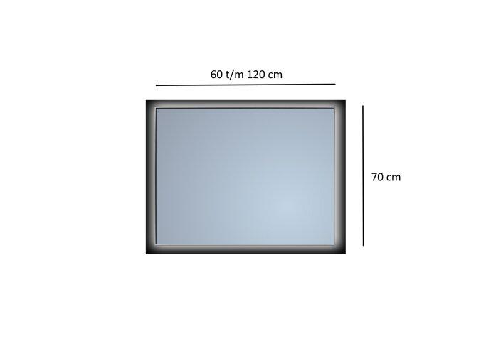 Badkamerspiegel Sanicare Q-Mirrors Ambiance 'Cool White' LED-verlichting Handsensor Schakelaar (alle kleuren, alle maten)