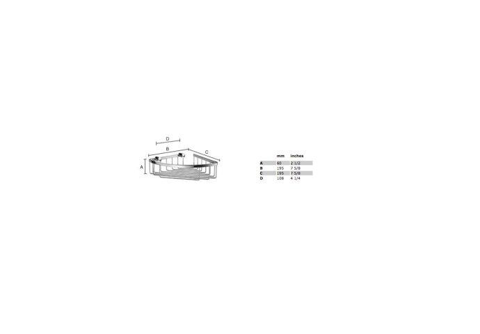 Douchekorf Smedbo Sideline 19,5x19,5 cm Chroom