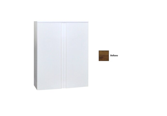 Kolomkast Sanicare Q7 2-Deurs Soft-Closing Greeploos 90x67x32 cm Belluno eiken
