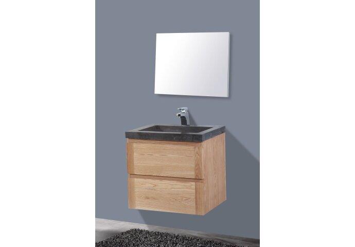 Badkamermeubelset Sanilux Senza Wood 60x47x50 cm Massief Eikenhout
