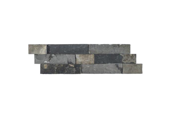 Steenstrips 01 Gray Brown Marmer 15x50 cm (Prijs per 0,5m²)