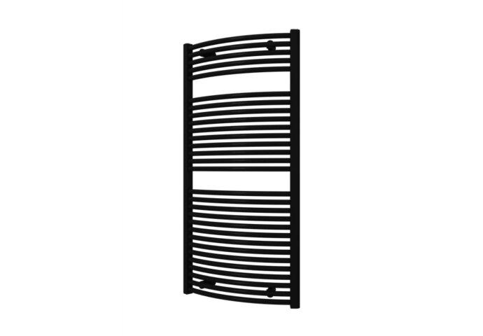 Designradiator Boss & Wessing Odro Gebogen met Zijaansluiting 119,6x58,5 cm 804 Watt Antraciet Metallic