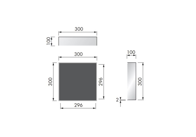 In Of Opbouwnis Looox CBoX Vierkant 30x30x10 Mat Zwart