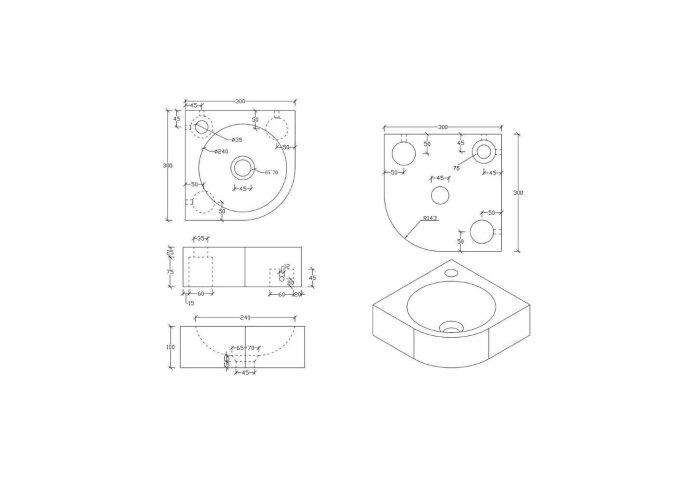 Hardstenen fonteinset Takara 30x30x10 cm