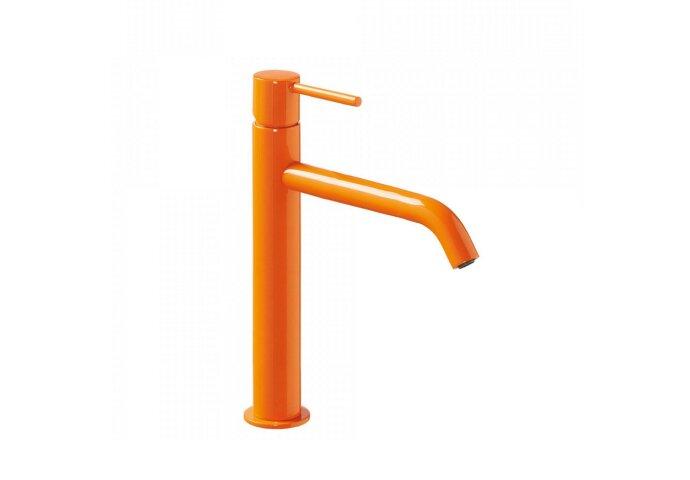 Wastafelmengkraan Tres Study Colors 1-Hendel Uitloop Recht 20 cm Rond Oranje