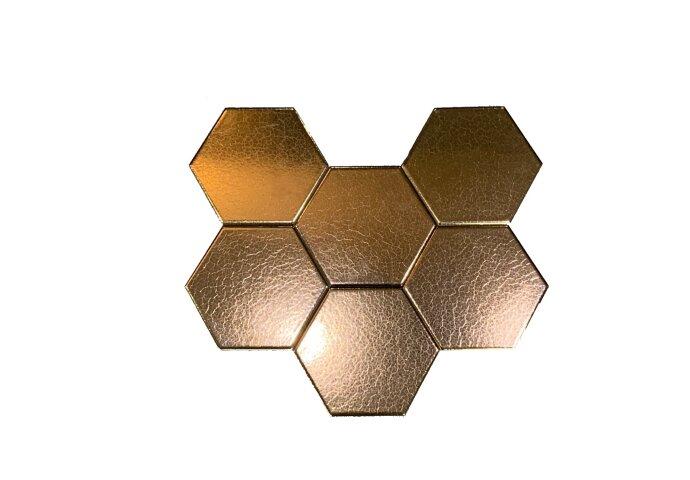 Wandtegels Hexagon 15x17 cm Dark Gold