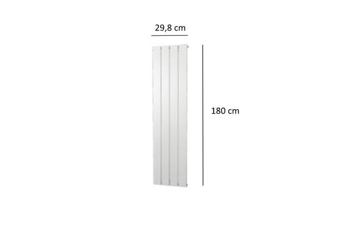 Designradiator Plieger Cavallino Retto Enkel 614 Watt Middenaansluiting 180x29,8 cm Wit