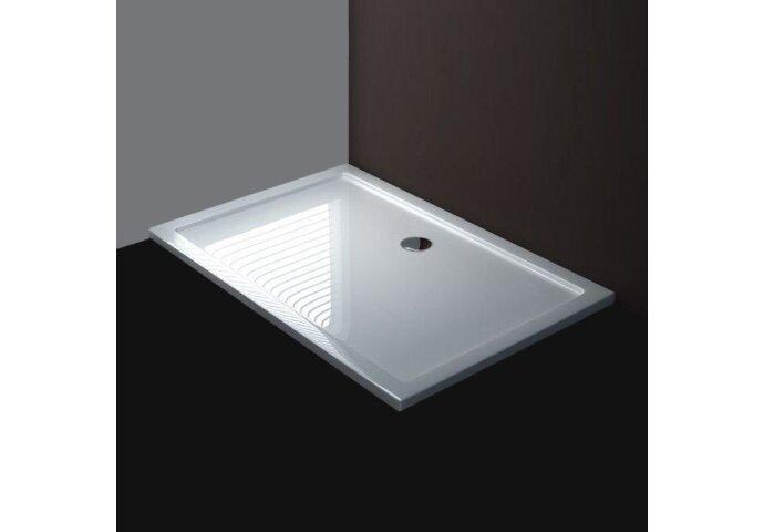 Luxe douchebak SMC rechthoek 120 x 80 x 4 cm wit base