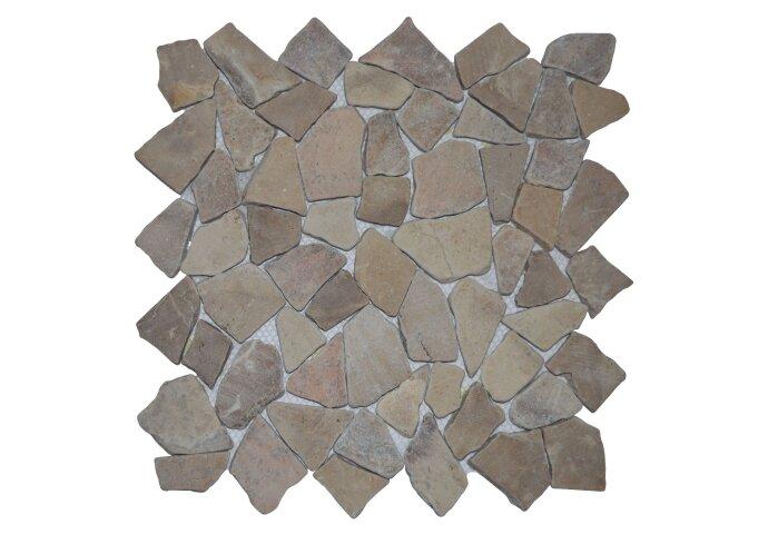 Mozaïek Y Light Brown Marmer 30x30 cm (Prijs per 1m²)