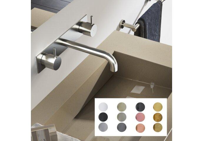 Wastafelmengkraan Hotbath Cobber Inbouw 3-gats Met Inbouwdeel (Verkrijgbaar in 12 kleuren)