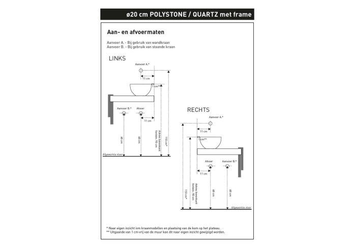 INK Fonteinframe Jazz XS Staal Met Handdoekhouder Links Mat Zwart 36x20x5 cm