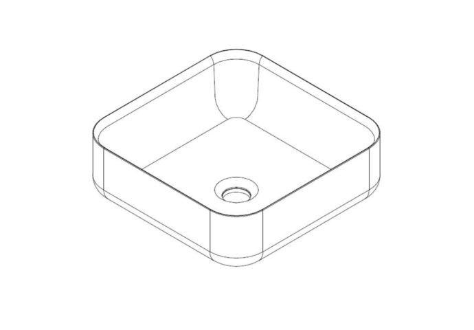 Badkamermeubelset Mondiaz LAGOM 110 cm Topblad met LED Rechtse Wastafel Solid Surface Opzetkom Binx met 1 Kraangat Mat Zwart (1 laden)