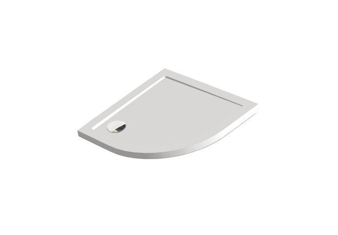 Douchebak Get Wet by Sealskin Fusion Kwartrond 80x80 cm Inbouw Wit