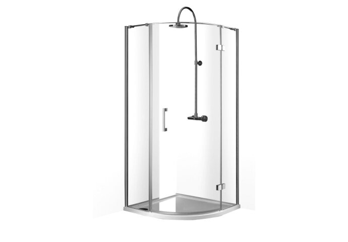 Douchecabine Boss & Wessing Rondo Kwartrond 1 deur 90x90x200cm 8mm NANO Coating