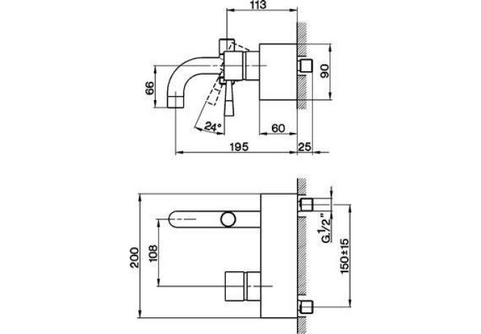 Cisal Pumpy badmengkraan opbouw chroom PU00013079