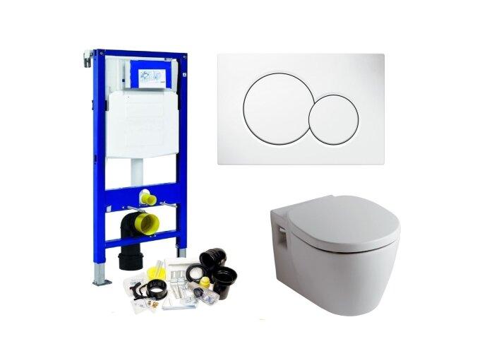 Geberit UP320 Toiletset set16 Boss & Wessing Ideal Standard Connect met Sigma drukplaat
