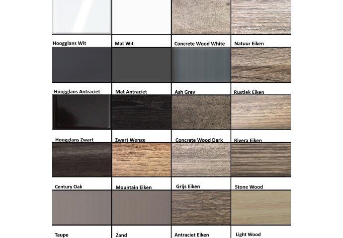 Badkamermeubelset Sanilux Trendline 100x47x50 cm 1 Kraangat Stone Wood