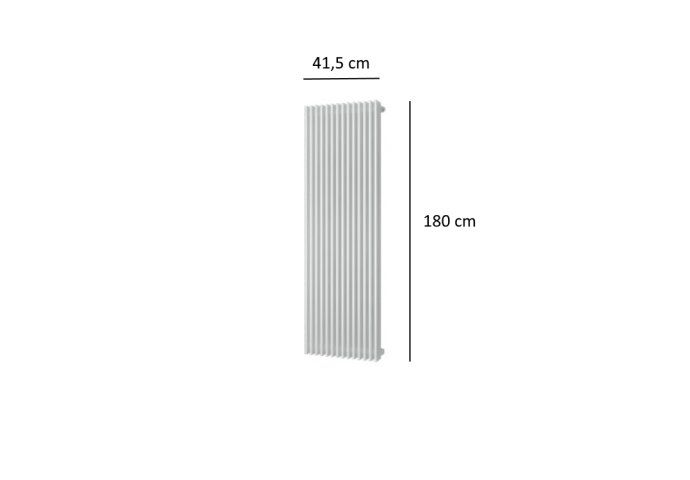 Designradiator Plieger Antika Retto 1556 Watt Middenaansluiting 180x41,5 cm Wit
