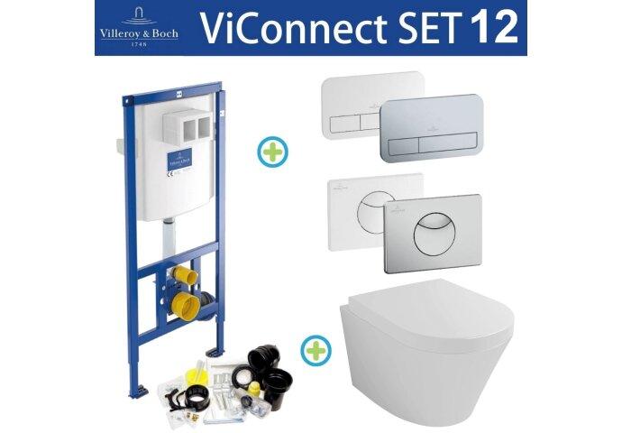 Villeroy & Boch ViConnect Toiletset set12 Wiesbaden Vesta 52cm met ViConnect drukplaat