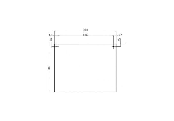 Badkamermeubelset Dekker Pesaro 90x50x45.5 cm Hoogglans Wit