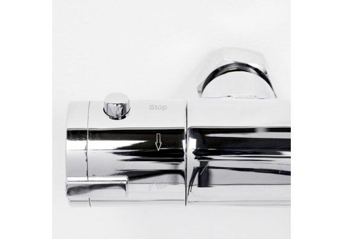Regendoucheset Inbouw Aqualux Mono 140 cm met Thermostaatkraan Chroom