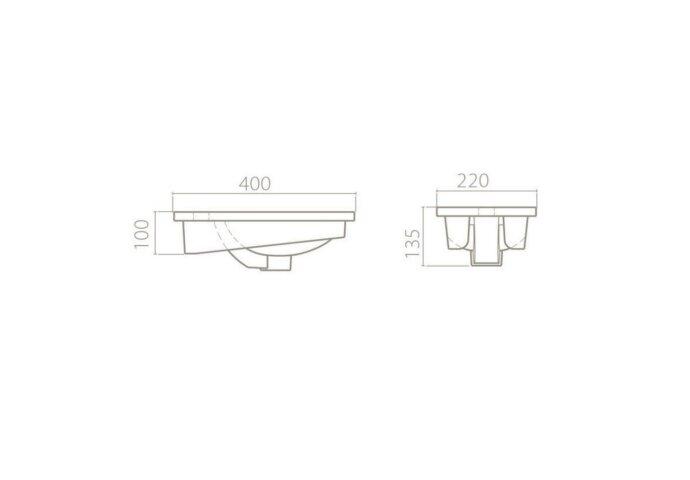 Fonteinkast Sanicare Q40 Belluno-Eiken(spiegel optioneel)