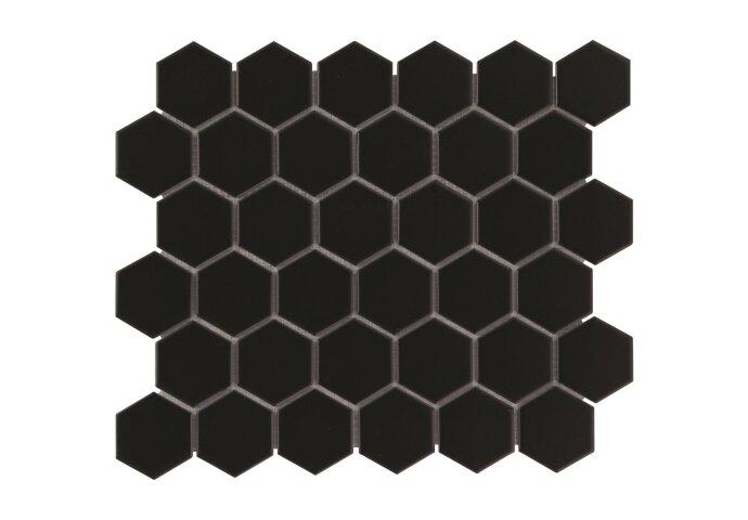 Mozaiek tegel Phorcys 28,1x32,5 cm (prijs per 0.91 m2) Mat Zwart