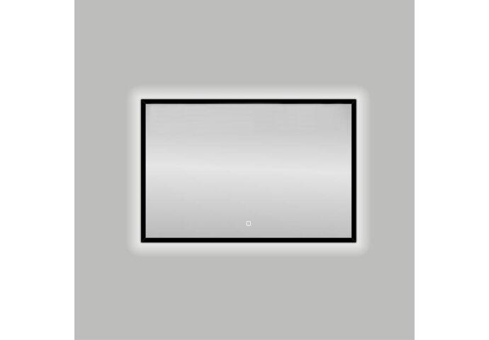 Badkamerspiegel Best Design Nero LED Verlichting 100x80 cm Mat Zwart