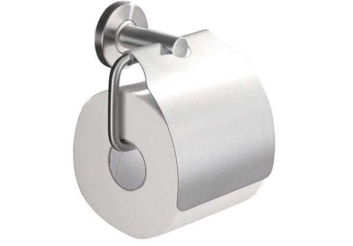 Wiesbaden toiletrolhouder met klep RVS 304