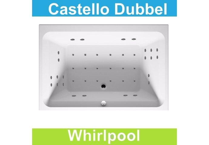 Ligbad Riho Castello 180x120 cm Whirlpool Dubbel systeem