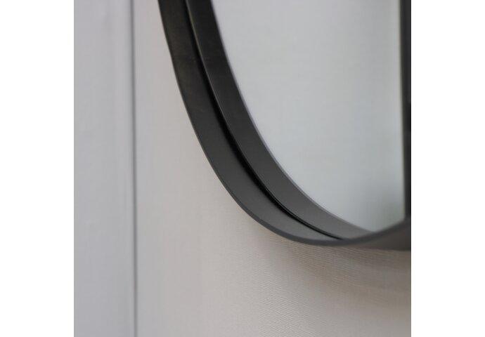 Ink Spiegel Rond Mat Zwart Aluminium Kader (Alle Maten Beschikbaar)