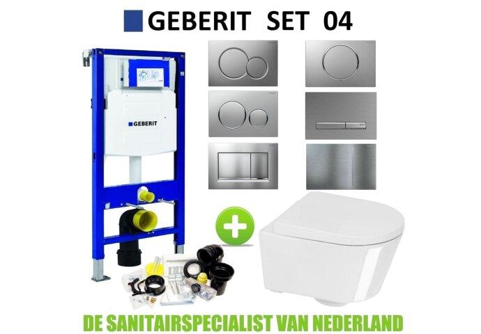 Geberit UP320 Toiletset set04 Boss & Wessing Calitri Urby met Sigma drukplaat