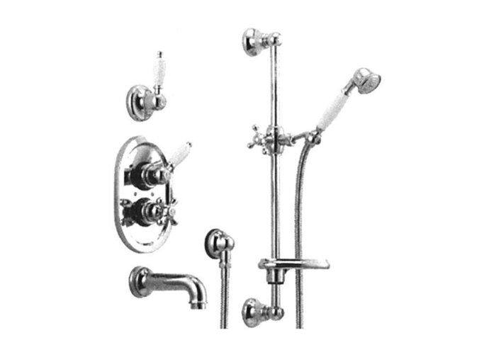Huber Croisette Inbouw Thermostatische Bad/Doucheset Brons 914CS01HBA