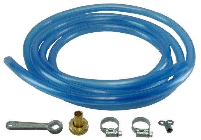 Vulslang-Set  + Vulsleutel   500 Cm blauw