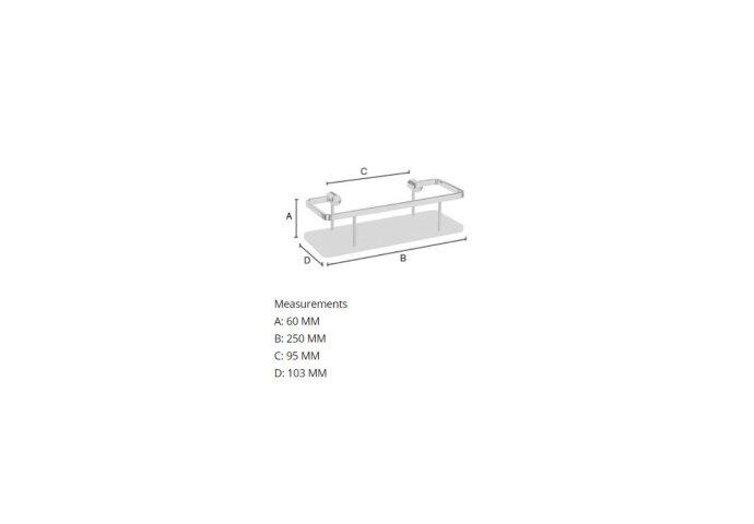 Zeephouder Smedbo Sideline Witte Bodemplaat 25x10,3 cm Chroom