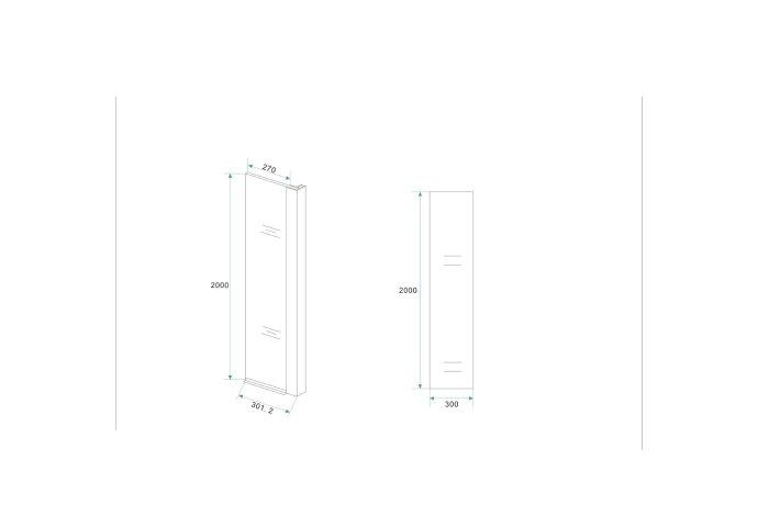 BWS Apollo Zijwand met Hoekprofiel 30x200cm 10mm NANO Coating