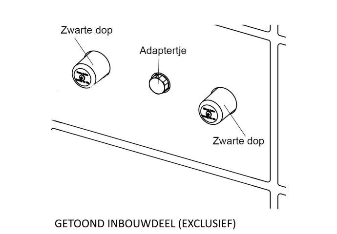 BWS Afbouwdeel Square 2-Knops Chroom tbv Wastafelmengkraan Inbouwdeel Uni