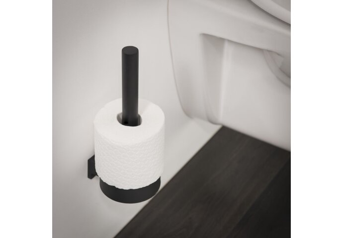 Reserve toiletrolhouder Tiger Bold Muur Rond Mat zwart
