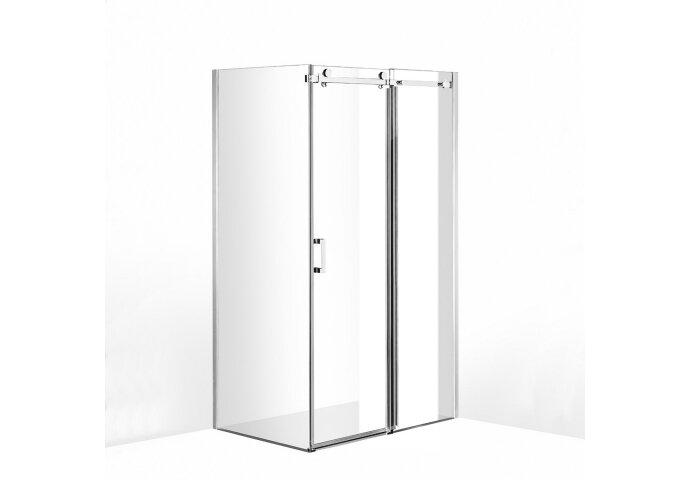 Douchecabine Boss & Wessing D&R Design Met Roldeur Helder Glas 140x...cm