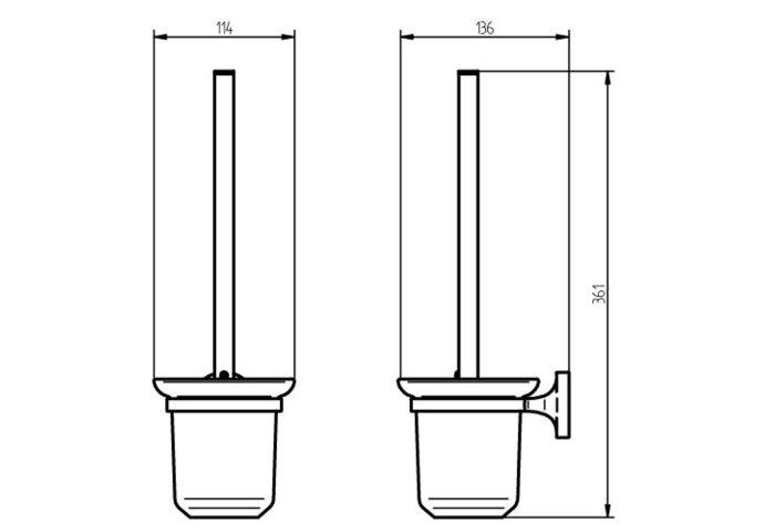 Toiletborstelset Haceka Aspen Chroom