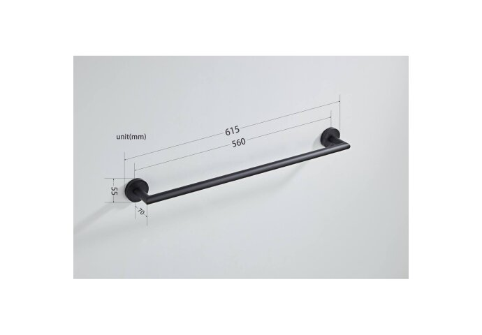 Handdoekhouder Boss & Wessing 61.5 cm Geborsteld Koper