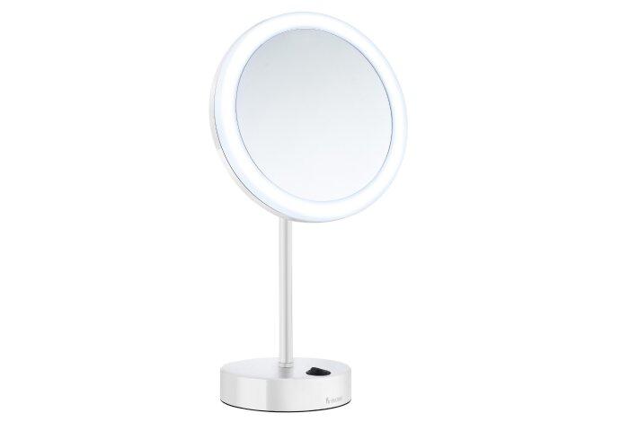 Vergrotingsspiegel Smedbo Outline Vrijstaand met LED PMMA Dual Light Wit